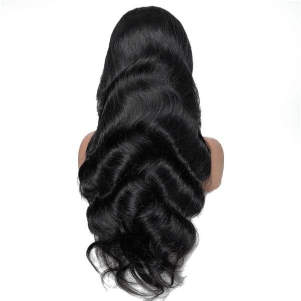 wavy human hair wig model